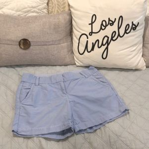 J Crew | Periwinkle Cotton Shorts sz 2